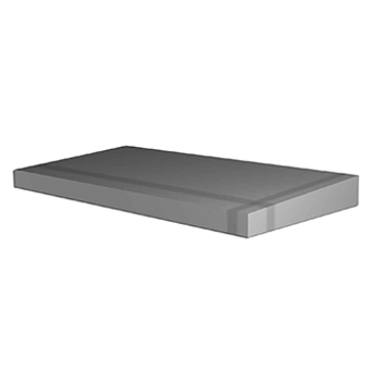 Slab-shaped with a slide flat part